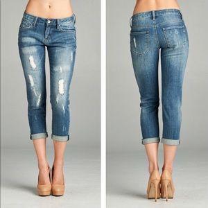 Denim - 2 LEFT! 💛⭐️Distressed Skinny Boyfriend Jeans!